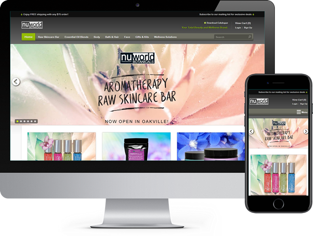 Ecommerce website displaying properly on a desktop computer and mobile devices.