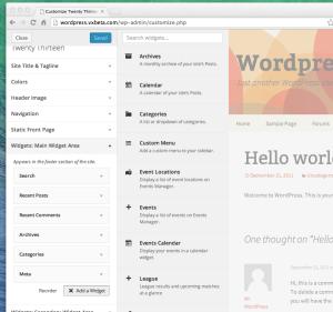 WordPress Widget Live Preview