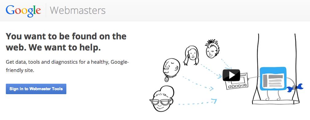 Google Webmaster Tools for Web Developers screeenshot