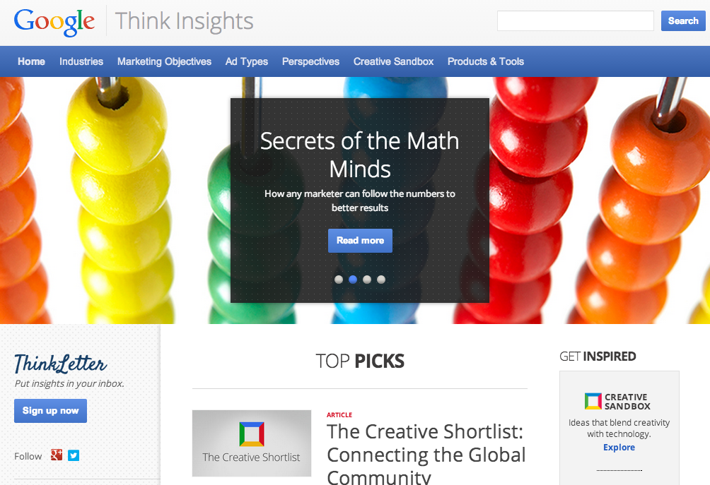 Google Think Insights for Webmasters and Business Owners